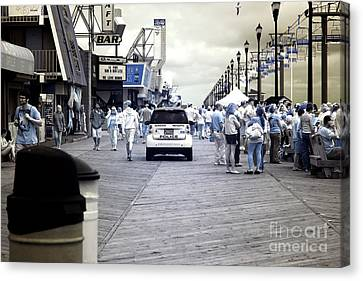 Seaside Heights Boardwalk Crowds Infrared Canvas Print by John Rizzuto