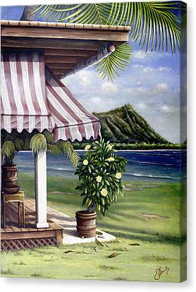 Seaside Hotel Canvas Print by Sandra Blazel - Printscapes