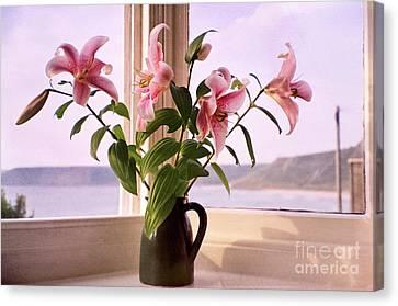 Seaside Lilies Canvas Print by Terri Waters