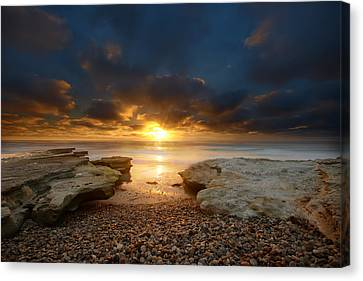 Seaside Reef Sunset 9 Canvas Print by Larry Marshall