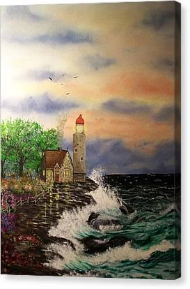 Seaside Vigil Canvas Print by Laurie Kidd