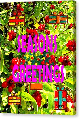 Seasons Greetings 10 Canvas Print by Patrick J Murphy