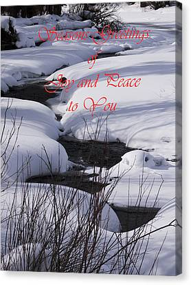 Seasons Of Joy And Peace Canvas Print by Daniel Hebard