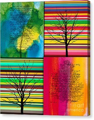 Seasons Canvas Print by Ramneek Narang