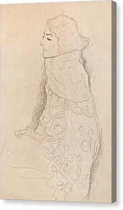Seated Woman Canvas Print by Gustav Klimt