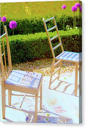 Seating Arrangement Canvas Print by Ann Johndro-Collins