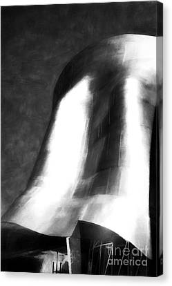 Seattle Art In Black And White Canvas Print by Mel Steinhauer