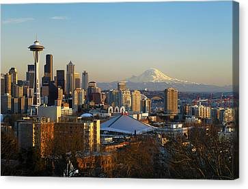 Seattle Cityscape Canvas Print by Greg Vaughn - Printscapes