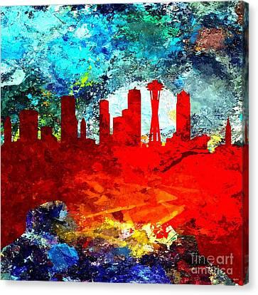 Seattle Grunge Canvas Print by Daniel Janda