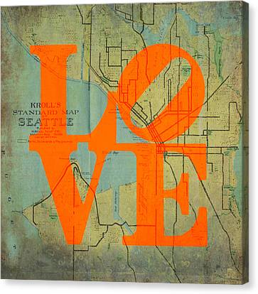 Seattle Love Canvas Print by Brandi Fitzgerald