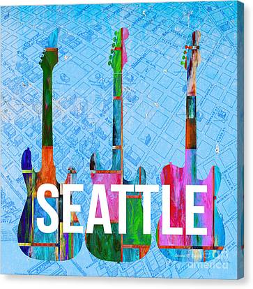 Seattle Music Scene Canvas Print by Edward Fielding