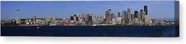 Seattle Panoramic Canvas Print by Adam Romanowicz