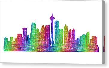 Seattle Skyline Canvas Print by David Zydd