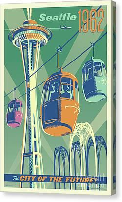 Seattle Space Needle 1962 - Alternate Canvas Print by Jim Zahniser
