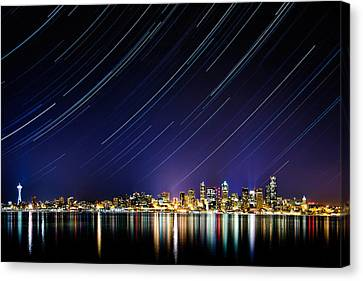 Seattle Stars Canvas Print by Victor Dallons