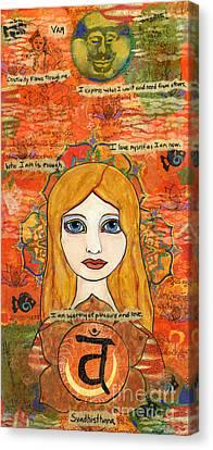 Second Chakra Canvas Print by AnaLisa Rutstein