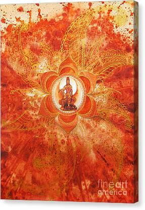 Second Chakra Canvas Print by Joan Doyle