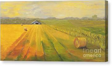 Second Cutting Canvas Print by Amy Welborn