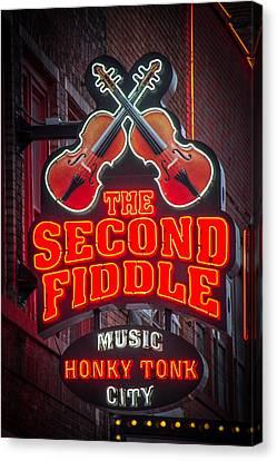 Second Fiddle Nashville Canvas Print by Mike Burgquist