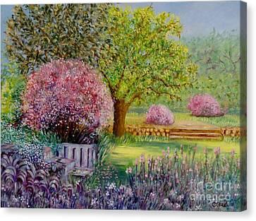 Secret Garden Canvas Print by Caroline Street