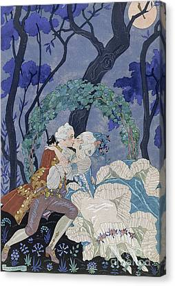 Secret Kiss Canvas Print by Georges Barbier