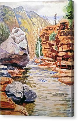 Sedona Arizona Slide Creek Canvas Print by Irina Sztukowski