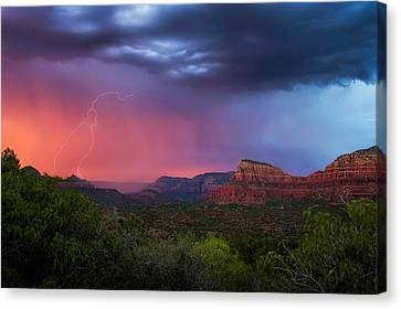 Sedona Storm  Canvas Print by Ron McGinnis