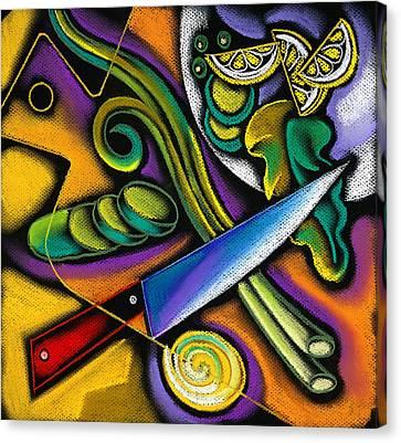 Tasty Salad Canvas Print by Leon Zernitsky