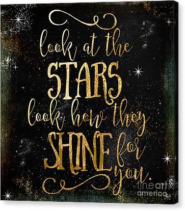 See How The Stars Shine Canvas Print by Mindy Sommers
