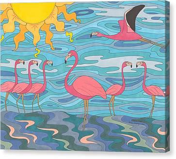 Seeing Pink Canvas Print by Pamela Schiermeyer