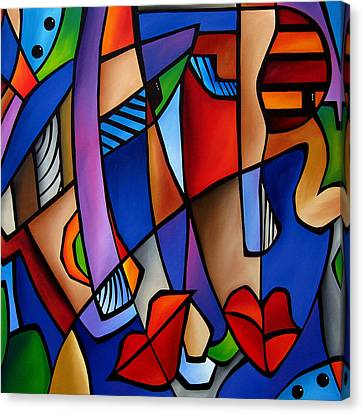 Seeing Sounds - Abstract Pop Art By Fidostudio Canvas Print by Tom Fedro - Fidostudio