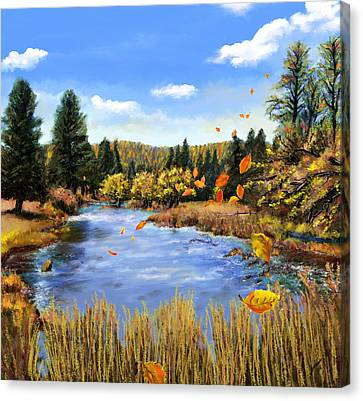Seeley Montana Fall Canvas Print by Susan Kinney