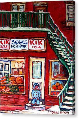 Segal's Market St.lawrence Boulevard Montreal Canvas Print by Carole Spandau