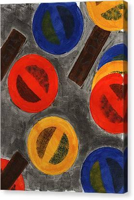 Segments 4 Canvas Print by David Townsend
