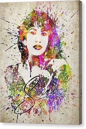 Selena Quintanilla In Color Canvas Print by Aged Pixel
