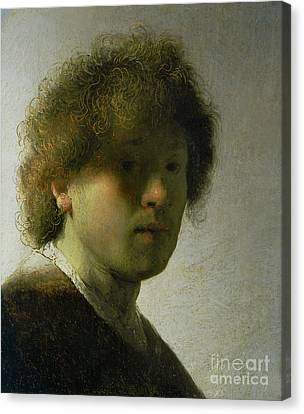 Self Portrait As A Young Man Canvas Print by Rembrandt