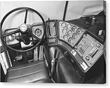 Semi-trailer Cab Interior Canvas Print by Underwood Archives