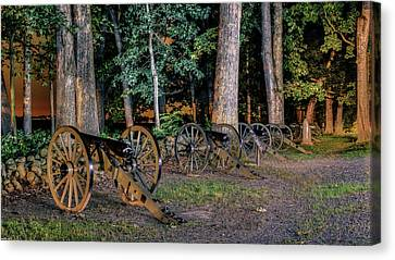 Seminary Ridge Artillery Canvas Print by Rob Sellers
