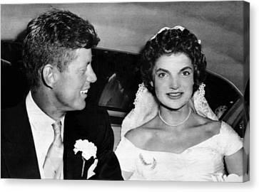Senator John F. Kennedy, Jacqueline Canvas Print by Everett
