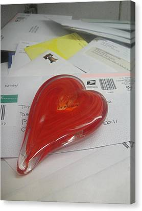 Sending You My Heart Through The Mail Canvas Print by WaLdEmAr BoRrErO