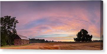 Seneca Stone Barn Canvas Print by Martin Radigan