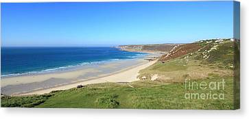 Sennen Cove - Panoramic Canvas Print by Carl Whitfield