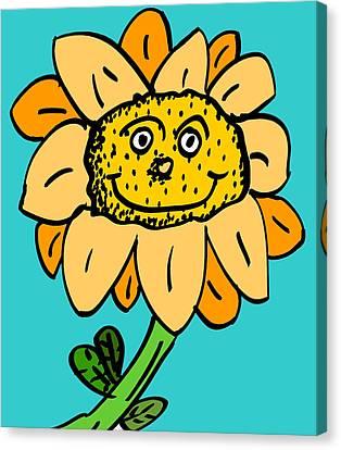 Senny The Sunflower Canvas Print by Jera Sky