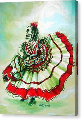 Senora De La Noche Canvas Print by Heather Calderon