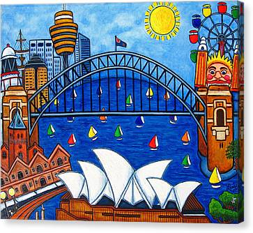 Sensational Sydney Canvas Print by Lisa  Lorenz