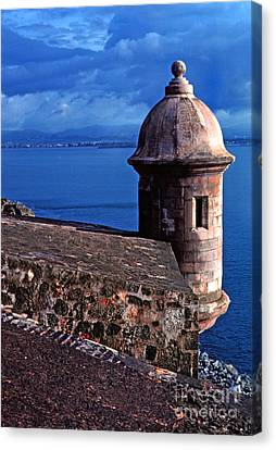 Sentry Box El Morro Fortress Canvas Print by Thomas R Fletcher