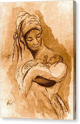 Sepia Madonna Canvas Print by George Nock