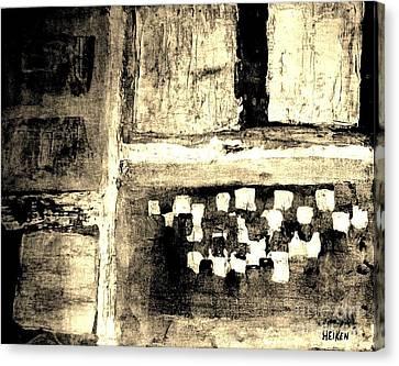 Sepia Squares Canvas Print by Marsha Heiken