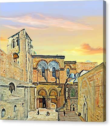 Sepulchre Church Painting 1928 Canvas Print by Munir Alawi