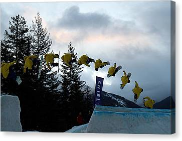 Sequence  Of A Snowboarder At The Telus Snowboard Festival Whistler 2010 Canvas Print by Pierre Leclerc Photography